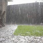 down pouring rain