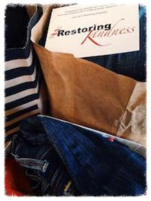 restoring kindness by holding a clothing drive