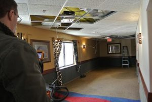 commercial water damaged ceiling