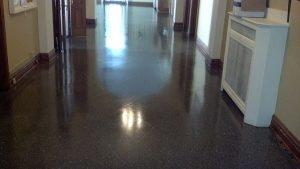 before terrazzo floor picture