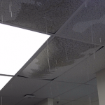 Water damage in a commercial office building in the Madison WI area