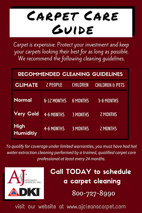 A&J carpet cleaning guide
