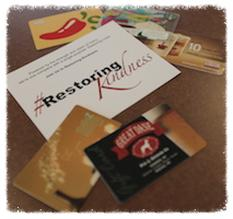 restoring kindness campaign   use up your gift cards on strangers