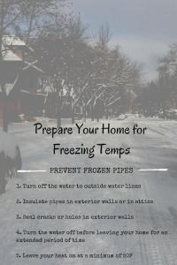 frozen pipe maintenance guide