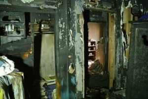 Before fire damaged apartment room image