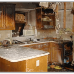 fire damage to house