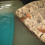 recliner in sewage