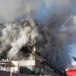 commercial business on fire
