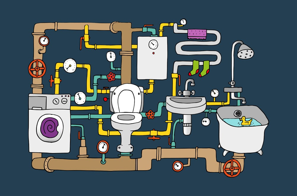 Plumbing system in your home can have sewage backup if they system isn't properly maintained | Sewage cleanup services by A&J Specialty Services Inc DKI of Madison, Middleton, Sun Prairie, Waunakee, Milwaukee, WI Dells, Fort Atkinson, Watertown, and Waukesha, Wisconsin