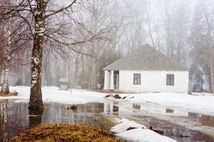 Relocated snow piles to help prevent basement flooding and water damage | Water damage restoration services by A&J Specialty Services Inc DKI of Madison, Middleton, Sun Prairie, Waunakee, Milwaukee, WI Dells, Fort Atkinson, Watertown, and Waukesha, Wisconsin