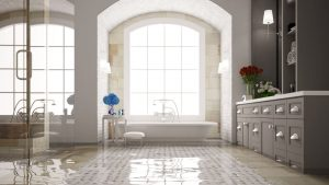 Standing water in bathroom water damage restoration service by A&J Specialty Services Inc DKI of Madison, Middleton, Sun Prairie, Waunakee, Milwaukee, WI Dells, Fort Atkinson, Watertown, and Waukesha, Wisconsin