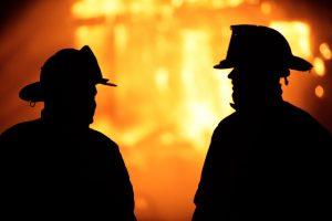 Firefighters talking