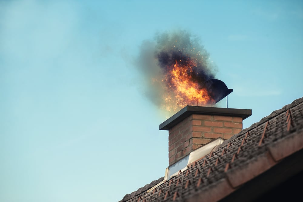 Chimney Fire Smoke Damage Fire Restoration services by A&J Property Restoration DKI of Madison, Middleton, Sun Prairie, Portage, Waunakee, Milwaukee, WI Dells, Fort Atkinson, Watertown, and Waukesha, Wisconsin
