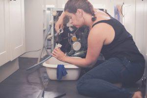 leaky appliance causing water damage