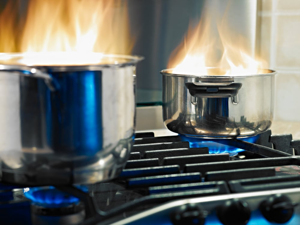 kitchen safety tip unattended cooking hazards increase risk of home fire services by A&J Property Restoration DKI of Madison, Middleton, Sun Prairie, Portage, Waunakee, Milwaukee, WI Dells, Fort Atkinson, Watertown, and Waukesha, Wisconsin