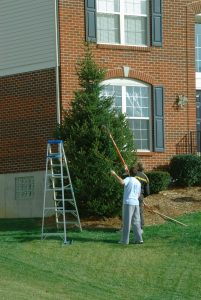 Holiday decorating tip ladder safety services by A&J Property Restoration DKI