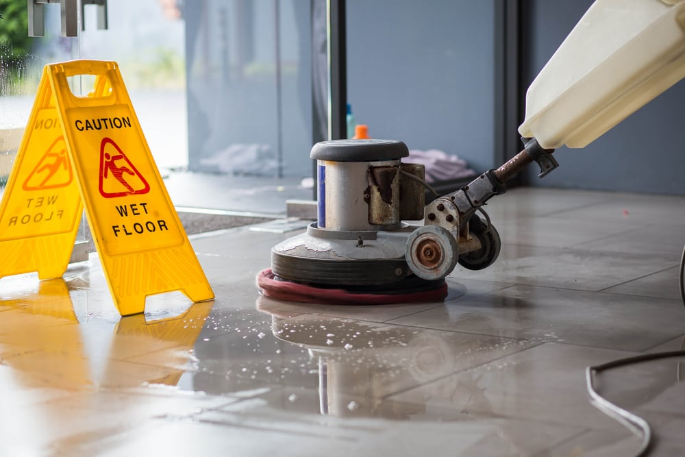 clean floors as part of commercial building maintenance and spring cleaning routine | services by A&J Property Restoration DKI of Madison, Middleton, Sun Prairie, Portage, Waunakee, Milwaukee, WI Dells, Fort Atkinson, Watertown, and Waukesha, Wisconsin