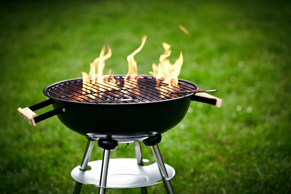 Fire shooting out of charcoal grill