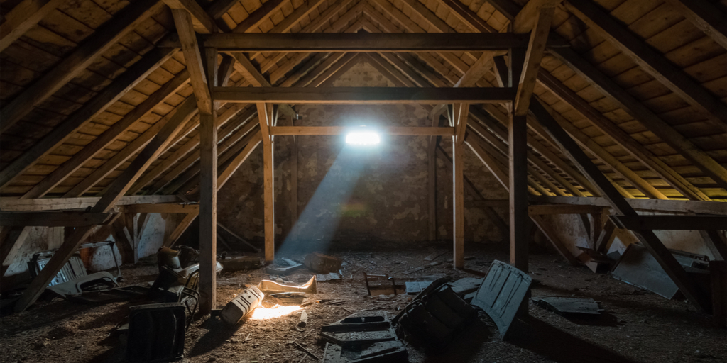 Dark dirty Attic