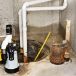 replacing old sump pump with new sump pump