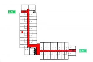 fire escape plan for apartment building