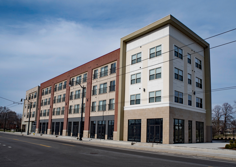 mixed use commercial business building